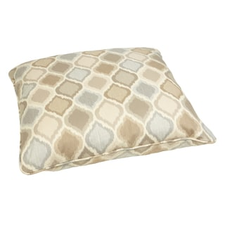 Beige/ Grey Indoor/ Outdoor Ogee 28-inch Square Floor Pillow with Sunbrella Fabric