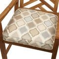 Beige/ Grey Ogee Indoor/ Outdoor 20-inch Chair Cushion with Sunbrella Fabric