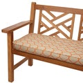 Moroccan Orange Outdoor 48-inch Bench Cushion with Sunbrella Fabric