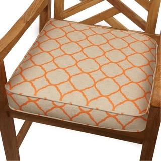 Moroccan Orange Indoor/ Outdoor 20-inch Chair Cushion with Sunbrella Fabric