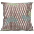 Hand-printed 'Mountain' Throw Pillow