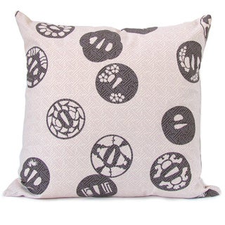 Hand-printed 'Lilac' Throw Pillow