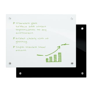 Enlighten White Glass Dry Erase Marker Board