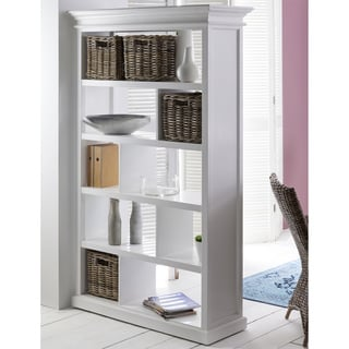 9-compartment White Mahogany Room Divider/ Bookshelf