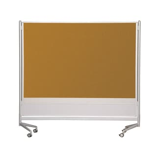 Balt Mobile Double Sided Dura-Rite HPL Markerboard Natural Cork DOC Room Partition