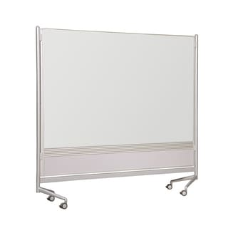 Balt Mobile Porcelain Steel Magnetic Markerboard Both Sides DOC Office Work Room Partition
