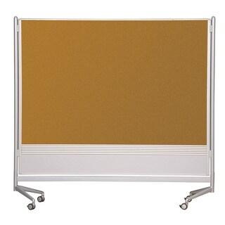 Balt Mobile Double Sided Porcelain Steel Markerboard Natural Cork DOC Room Divider Partition