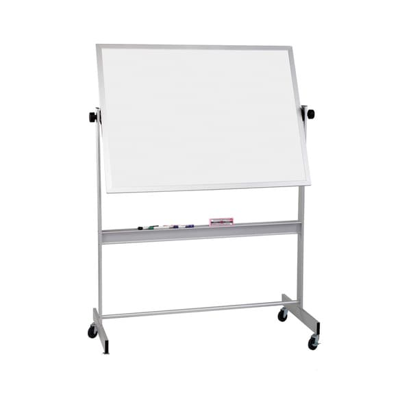 Balt Porcelain Steel Cork Deluxe Mobile Double Sided Reversible Dry Erase Magnetic White Marker Board