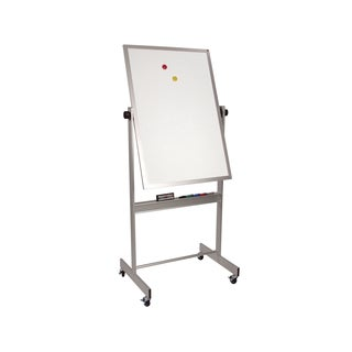 Balt Porcelain Steel Deluxe Mobile Double Sided Reversible Dry Erase Magnetic White Marker Board