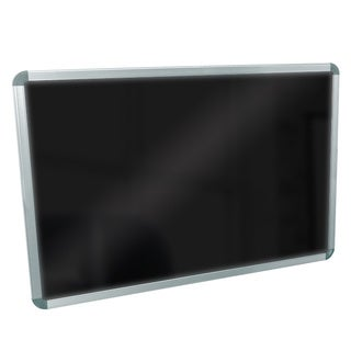 Luxor BW4030M Wall Mounted Black Markerboard
