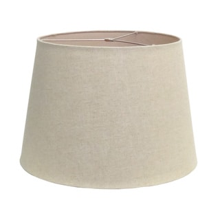 Round Brown Linen Hardback Lamp Shade