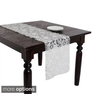 Ivory Lace Embroidered Table Linen