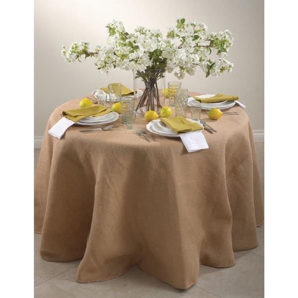 Round Burlap Tablecloth