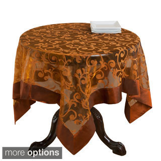 French Scroll Bronze Sheer Table Linen