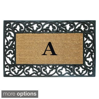 Wrought Iron Monogrammed Rubber / Coir Doormat
