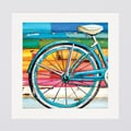Danny Phillips 'Life Cycles Bicycle Collage' Framed/ Matted Print