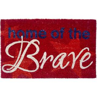 'Home of the Brave' Non-slip Coir Doormat