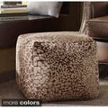 Madison Park 'Emma' Small Square Pouff Ottoman