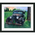 Lynn Garwood 'Vintage Car with Robins' Framed/ Matted Art Print
