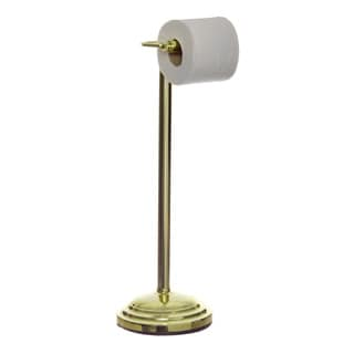 Polished Brass Pedestal Toilet Tissue Holder