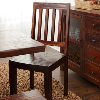 Armada Rustic Mahogany Wooden Side Chair