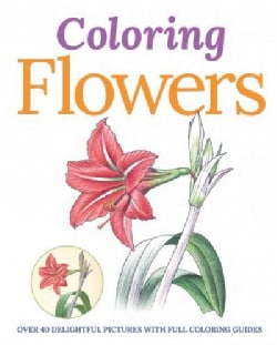 Coloring Flowers (Paperback)