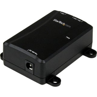 StarTech.com 1 Port Gigabit PoE Power over Ethernet Injector 48V / 30