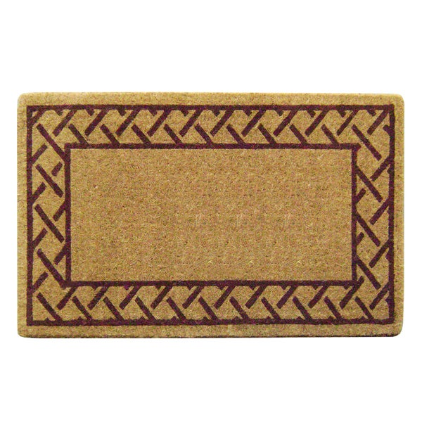 Heavy Duty Coir Decorative Trellis Border Doormat