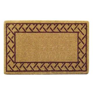 Heavy Duty Coir Decorative Trellis Border Doormat