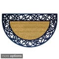 Ornate Wrought Iron-style Rubber/Coir Doormat