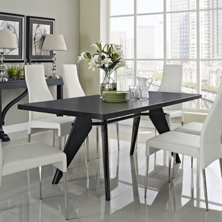 Clasp Modern Wenge Wood-top Dining Table