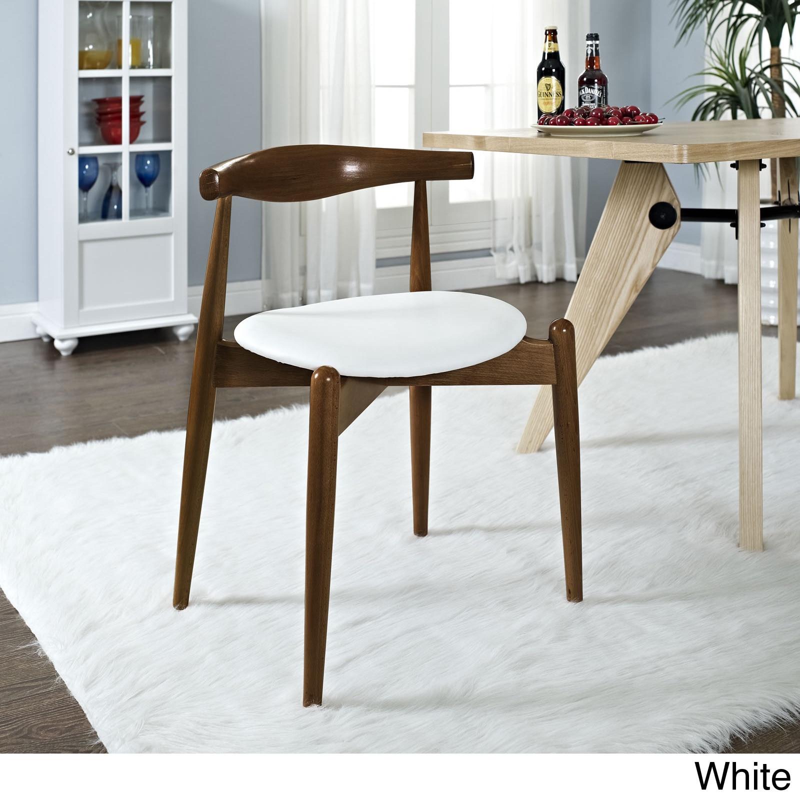 dinng chair in dark walnut white stalwart modern walnut dinng chair