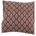 Aztec Tribal Cotton Red 18-inch Decorative Accent Pillow