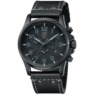 Luminox Men's Atacama Field Day 1941.BO Black Leather Swiss Quartz Watch with Black Dial