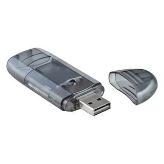 INSTEN Clear Black SD/ MMC Memory Card Reader