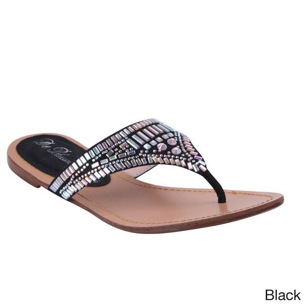 Blossom Women's 'Wave-20' Sparkle Hardware Flip-flop Sandals