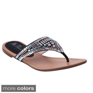 Blossom Women's 'Wave-20' Sparkle Hardware Flip-flop Sandals