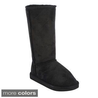 Top Moda Women's 'Window-1' Faux Suede Mid-calf Snow Boots
