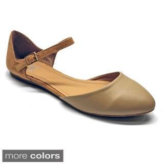 Betani Women's 'Agustina-2' Ankle Strap Dorsay Flats