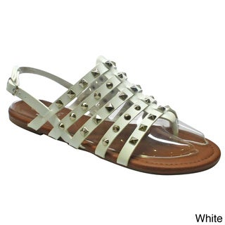 Betani Women's 'Adele-1' Gladiator Strappy Studded Sandals