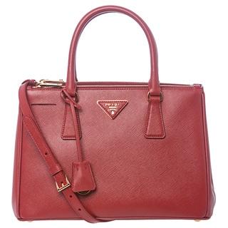 Prada 'Lux' Small Red Saffiano Leather Tote
