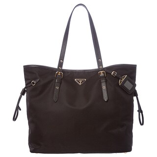 Prada Black Nylon Clinch Tote