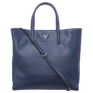 Prada Cornflower Blue Soft Saffiano Leather Tote
