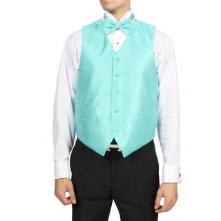 Ferrecci Men's Aqua Turquoise 4-piece Vest Set