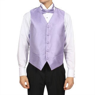 Ferrecci Men's Lilac Purple 4-piece Vest Set