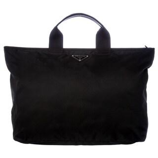 Prada Oversize Black Nylon Tote