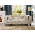 Baxton Studio Amelia Beige Linen Modern Sofa