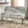 Baxton Studio Khloe Patterned Linen Modern Loveseat
