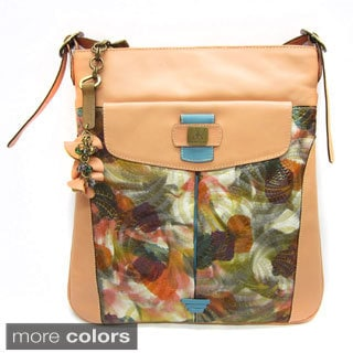 Anchicoque Watercolor Detail Leather Shoulder Bag