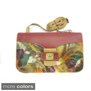Anchicoque Abstract Textured Leather Shoulder Bag